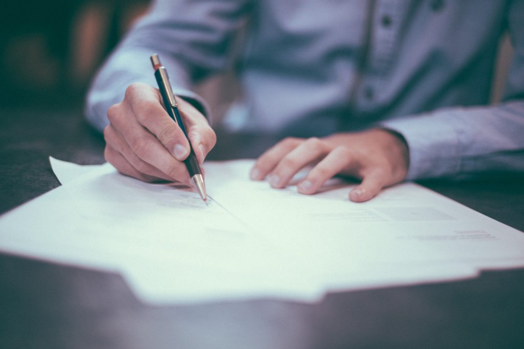 Solicitor completing a legal searces of titles